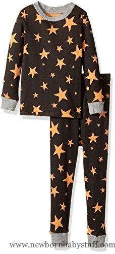Baby Boy Clothes Burt's Bees Baby Baby Organic 2 Piece Pajama Set, Onyx Shooting Star, 12 Months