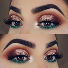 23 Glam Makeup Ideas for Christmas: #christmas; #makeup