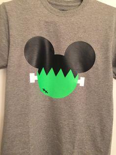 Disney FrankenMickey Halloween family heat transfer vinyl adult and toddler…