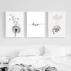 More Than 66 Small Clean Cute Cartoon Elephant Balloon Dandelion Simple Nordic Canvas ! Small Clean Cute Cartoon Elephant Balloon Dandelion Simple Nordic Canvas Painting Poster Home Picture Wall Decoration ! Wall Decor Pictures, Bedroom Pictures, Simple Pictures, Home Pictures, Home Bild, Elephant Balloon, Cartoon Elephant, Elephant Elephant, Minimalist Home Decor