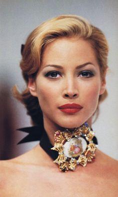 Christy Turlington for Dolce & Gabbana, f/w 1992/93