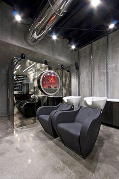 Futuristic Hair Dresser Salon hair washing station