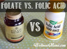 Folic Acid vs. Folate