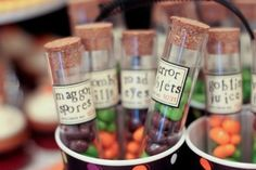 Sweets in a test tube