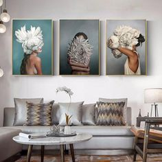 Us 198 49 Off Creative Flowers Feather Angel Canvas Art Painting Nordic Girls Room Decor Posters And Prints Wall Pictures For Bedroom Decor In Canvas Poster, Canvas Wall Art, Painting Canvas, Canvas Prints, Living Room Canvas Art, Modern Canvas Art, Big Canvas, Art Prints, Spray Painting