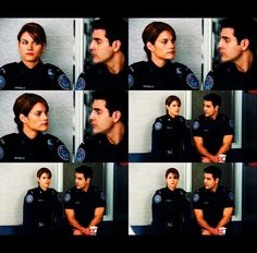 Sam and Andy. Rookie Blue