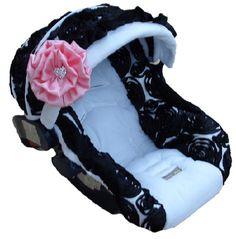 Baby Rose Noir Infant Car Seat Cover