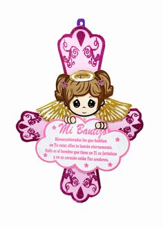 "20"" XL Mi Bautizo Girl with Prayer Foami #FM30PK - Joyful Events Store #mibautizo #foamibaptism #baptismfigurine #fomibaptism #diybaptism #joyfuleventsstore"