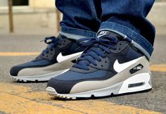 My Style! Air Max 90 Navy Blue & Wolf Gray