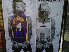 I'm so upset I can't find this picture of her in a different Jersey. Love tattoos, love Marilyn, love basketball <3