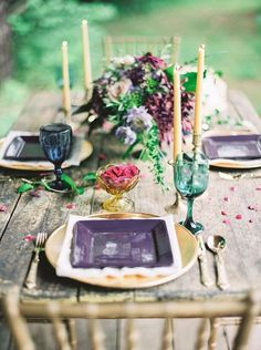 Jewel tones wedding trend   Julie Paisley Photography   see more on:…