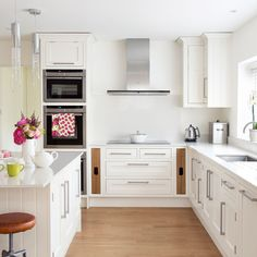 Brilliant white kitchen with floating units