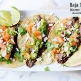 carne asada tacos with marinated flank steak ohsweetbasil.com