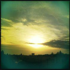 Across the Berlin sky