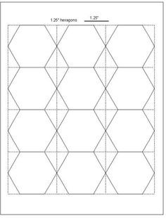 Hexagon Templates In Various Sizes