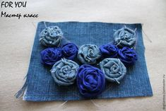 Collar con flores de jeans paso a paso. Reciclamos con estilo. ~ Flores hechas a mano Textiles, Fabric Jewelry, Master Class, Baby Dress, Diy And Crafts, Decorative Boxes, Creations, Jewelry Making, Sewing