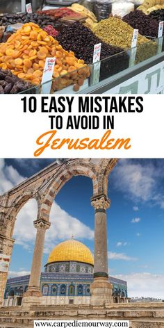 Mistakes to avoid when planning a trip to Jerusalem Travel Advice, Travel Guides, Travel Tips, Food Travel, Cool Places To Visit, Places To Travel, Travel Destinations, Israel Travel, Israel Trip