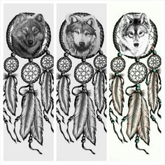 I'm loving both the first and third one. I like the third wolf best though.