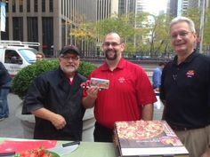 Meet (from left to right) Mark, Chuck, and John from our Corporate Office, while they are getting ready to teach Fox and Friends in New York how to make Marco's Authentic Italian Pizza!