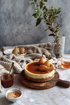 Hruškový Cheesecake s Karamelom s príchuťou hurškovej brandy Cream Brulee Cheesecake, Cake Recept, Mousse Cake, Healthy Cookies, Love Cake, Sweet And Salty, Sweet Desserts, Cheesecakes, Food And Drink