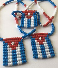 Cuba Flag Necklace Conga Cuban Flag