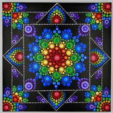 How to Paint Dot Mandalas with Kristin Uhrig online store Mandala Design, Mandala Mural, Mandala Canvas, Mandala Painting, Mandala Pattern, Dot Art Painting, Painting Patterns, Stone Painting, Mandala Painted Rocks