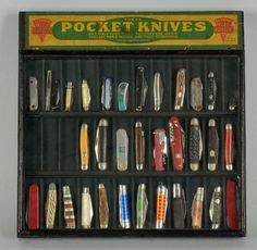 pocket knife display case | Keen Kutter Pocket Knife Display Case. : Lot 1551