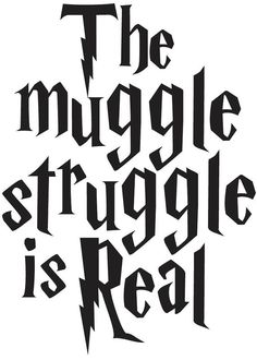 Harry Potter The Muggle Struggle is Real Funny Decal Sticker FREE SHIPPING!