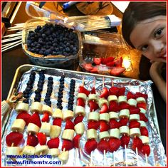 Fit Fruit Flag Great for parties! 4th of July! Memorial Day! Any Day! Fun to make and fun to eat! The other night my daughter and I made this fun, festive Fruit Flag! It was so easy and fun to make together. I'm always looking for healthy treats to make that teach my children the importance of healthy eating (without them knowing they're learning!) Ingredients 2 boxes of organic blueberriesContinue reading...