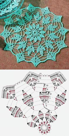 Crochet doilies 20 free patterns / 20 patterns for knitting a napkin . - MonikaCrochet doilies 20 free patterns / 20 patterns for knitting a napkin . Motif Mandala Crochet, Crochet Doily Diagram, Crochet Circles, Crochet Doily Patterns, Crochet Chart, Crochet Squares, Thread Crochet, Crochet Designs, Tatting Patterns