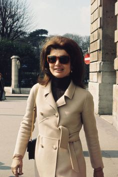 A look back at the fashion history of the camel coat: Jacqueline Kennedy Onassis