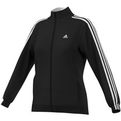 adidas 3-Stripe Track Jacket ($45) ❤ liked on Polyvore featuring activewear, activewear jackets, tracksuit jacket, track jacket, adidas activewear, adidas sportswear and warm up jackets
