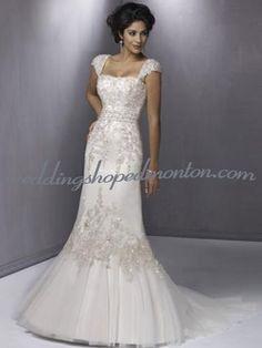 Discount Evening Dresses Cheap Edmonton Shop Mermaid Queen Anne Court Train Satin Organza Bridal