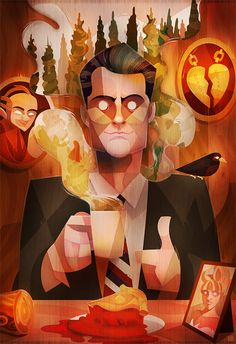 Pop Culture Illustrations by Carlos Lerma | Twin Peaks