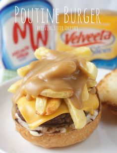 Poutine Burger | www.livingbettertogether.com #SayCheeseburger #Collective Bias #shop