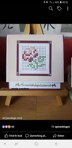 Embroidery Cards, Cross Stitch Embroidery, Cross Stitch Patterns, Tiny Cross Stitch, Cross Stitch Cards, Painted Pegboard, Marianne Design, Patterns In Nature, Paper Cards