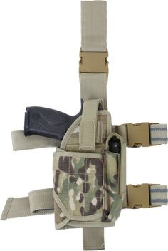 Multi Cam Military Deluxe Tactical Adjustable Drop Leg Holster | 10751 | $29.99
