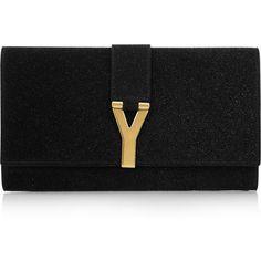 Yves Saint Laurent Chyc quartz-embellished clutch ($995) found on Polyvore