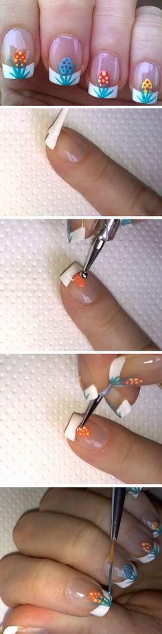 French Manicure | 17 DIY Easter Nail Art Ideas for Teens | Easy Spring Nail Designs for Short Nails