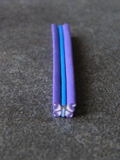 Cane fimo papillon violet 5cm #2 : Pâtes polymères et accessoires par jl-bijoux-creation
