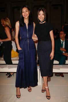 Liu Wen and Irene Kim - Victoria Beckham Spring 2017 fashion show - Front Row - September 11, 2016 #nyfw