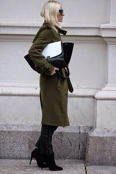 hippiehippiemilkshake | olive green winter coat
