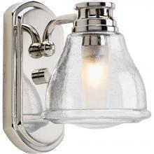 Progress P2810-15WB - One Light Clear Seeded Glass Polished Chrome Bathroom Sconce