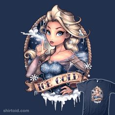 """Ice Cold"" by Tim Shumate. Elsa the Snow Queen from the movie Frozen. [Sold at Society6]"