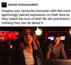 We don't even have to imagine it, us Staticquake shippers. Agents of Shield. (I'm not crying you're crying)
