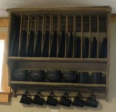 Custom Primitive Plate Rack Made To Order