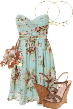 Woman's fashion /floral dress