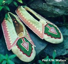 delaware indians pictures | Modern Lenape (Delaware) moccasins. From the book Indian Paths of ...