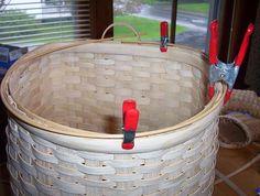 Adirondack Pack Basket Tutorial