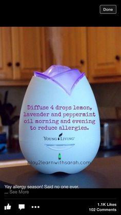 Young Living essential oils- reducing allergies